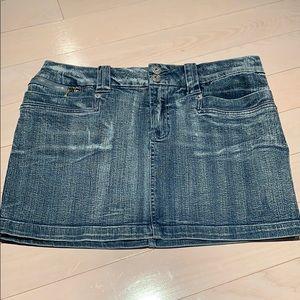 Buffalo stretch denim mini skirt size 30